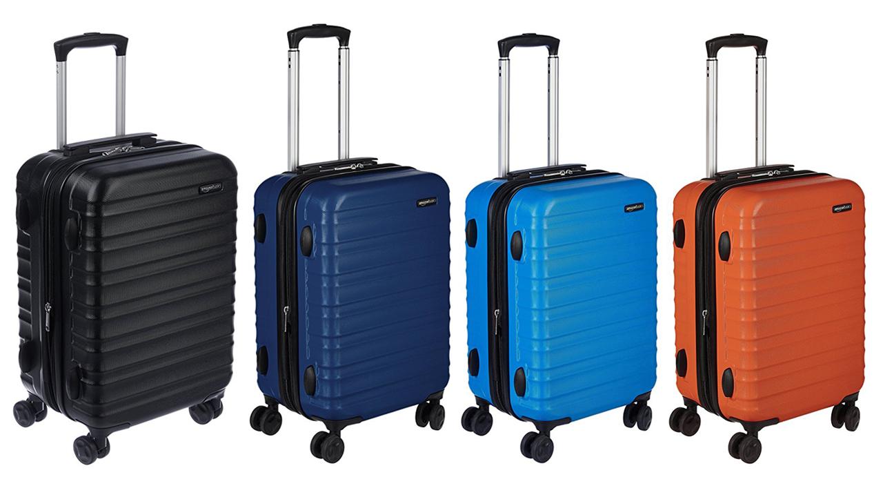 4 couleurs disponibles pour la valise amazonbasics